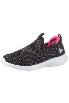 skechers kids slip-on sneakers ultra flex met zacht verdikt hieldeel zwart