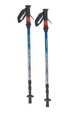spartan, aluminium-wandelstok in set van 2, »mont blanc« blauw