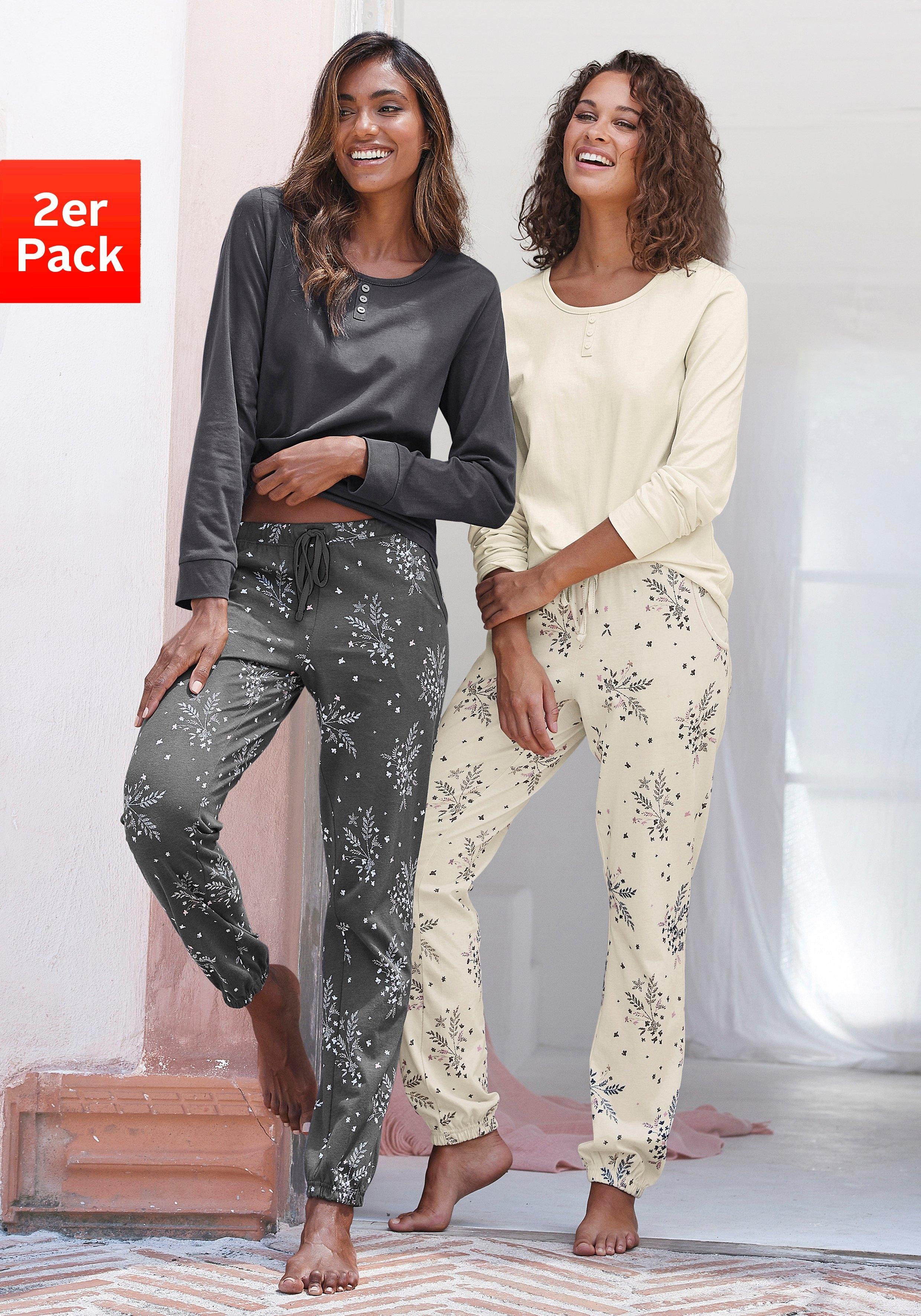 Vivance Dreams pyjama met fijne bloementakken (Set van 2) in de webshop van OTTO kopen