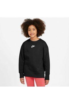 nike sportswear sweatshirt club fleece big kids (girls) crew zwart