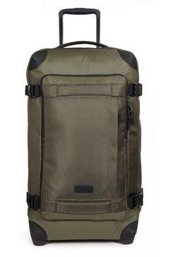 eastpak reistas tranverz l, cnnct khaki met 2 wieltjes, bevat gerecycled materiaal (global recycled standard) groen
