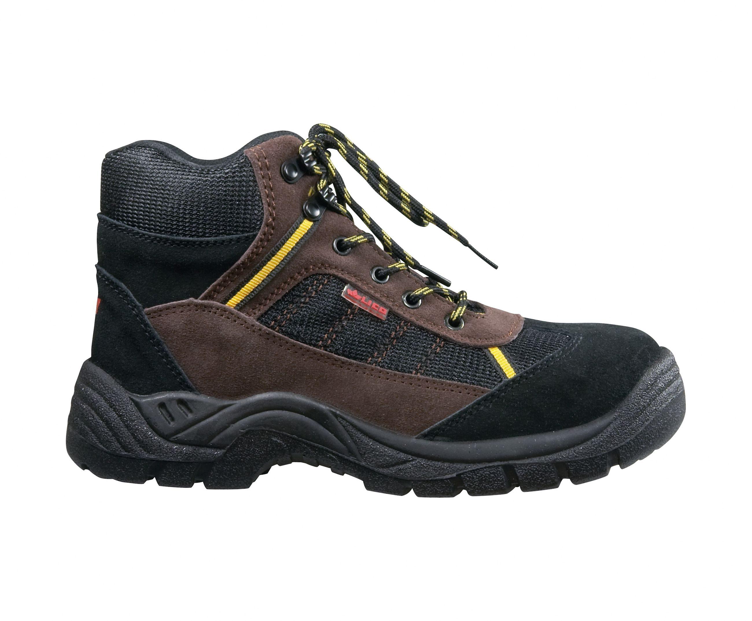 Chaussures De Sécurité Des Hommes De Sécurité Lico, Noir, Taille: 43