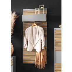 places of style kapstokpaneel bertil 3 haken van metaal beige
