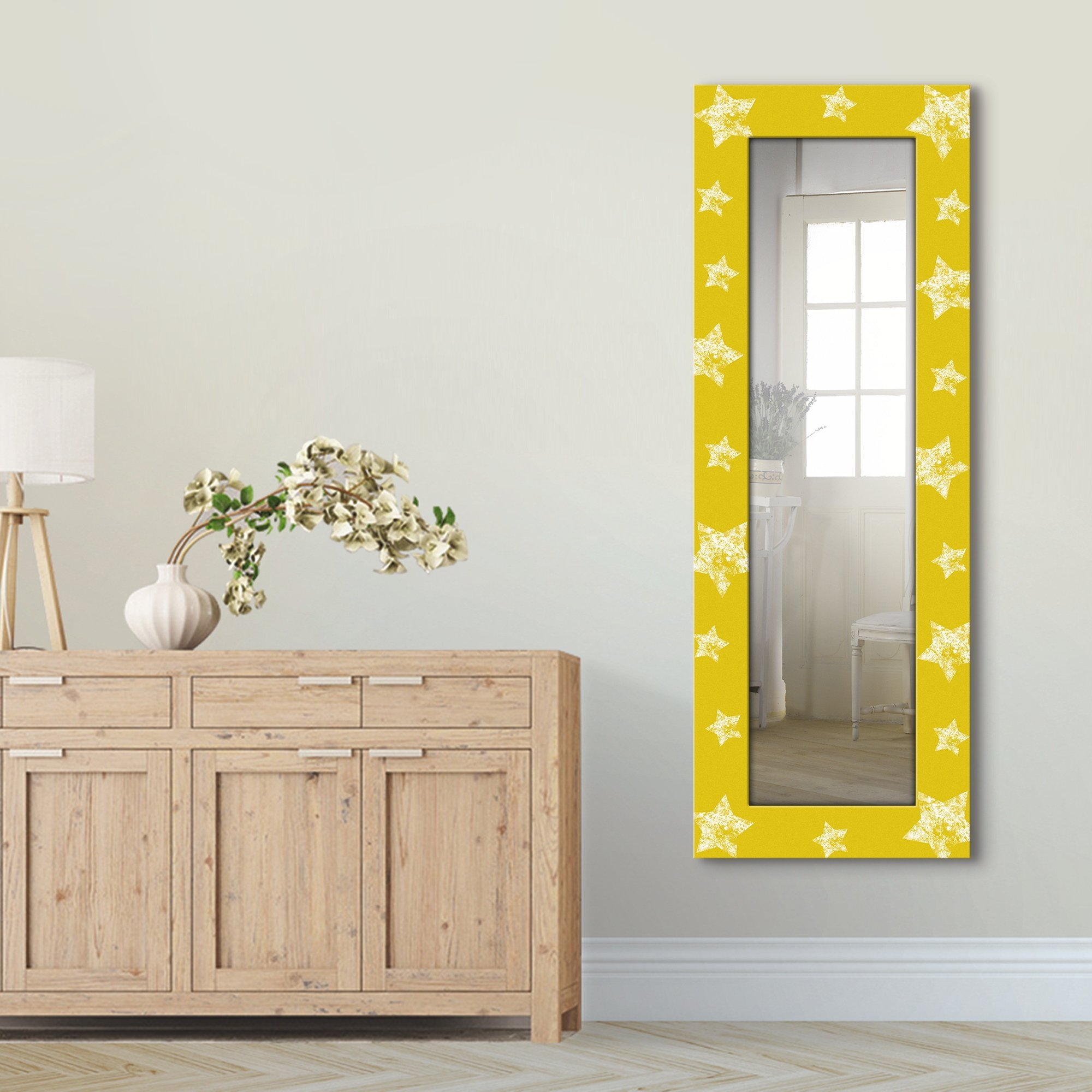 Artland wandspiegel Ster ingelijste spiegel voor het hele lichaam met motiefrand, geschikt voor kleine, smalle hal, halspiegel, mirror spiegel omrand om op te hangen bij OTTO online kopen