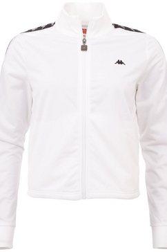 kappa trainingsjack authentic hasina met gepaspelde logo-weefband aan de mouwen wit