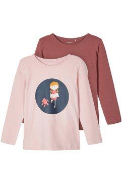 name it shirt met lange mouwen roze