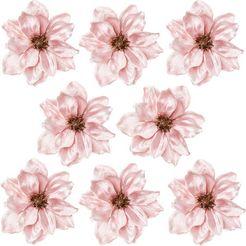 creativ deco kerstboomversiering op clip magnolie ø ca. 16 cm (set, 8-delig) roze