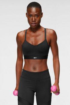 reebok sport-bh s lux strappy bra zwart