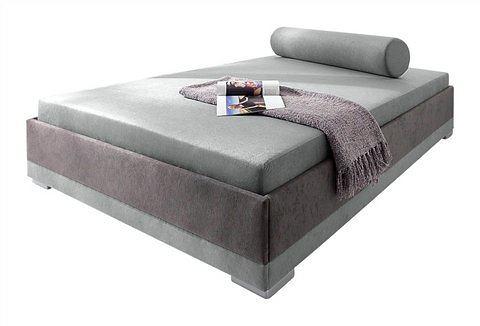 MAINTAL Bed met houten frame met binnenveringsmatras grijs Maintal 409100