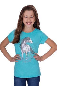 trigema t-shirt met paard groen