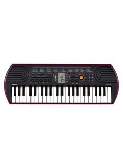 casio keyboard mini-keyboard sa-78 met 44 minitoetsen zwart