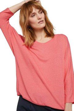 tom tailor shirt met 3-4-mouwen in mooie, gemêleerde look oranje
