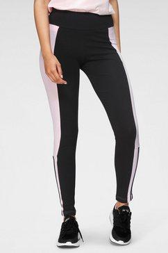 adidas performance legging color block cut 3-stripes cotton leggings zwart