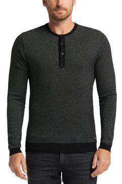 mustang gebreide trui »emil henley« zwart