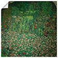 artland artprint tuinlandschap met heuvel (tuinlandschap) in vele afmetingen  productsoorten -artprint op linnen, poster, muursticker - wandfolie ook geschikt voor de badkamer (1 stuk) groen