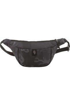 nitro heuptasje hip bag, forged camo zwart