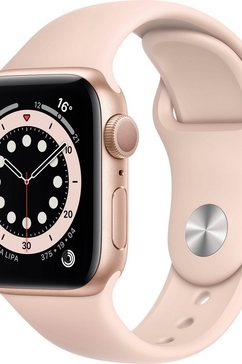 apple watch series 6 gps, aluminium kast met sportbandje 40 mm inclusief oplaadstation (magnetische oplaadkabel) roze