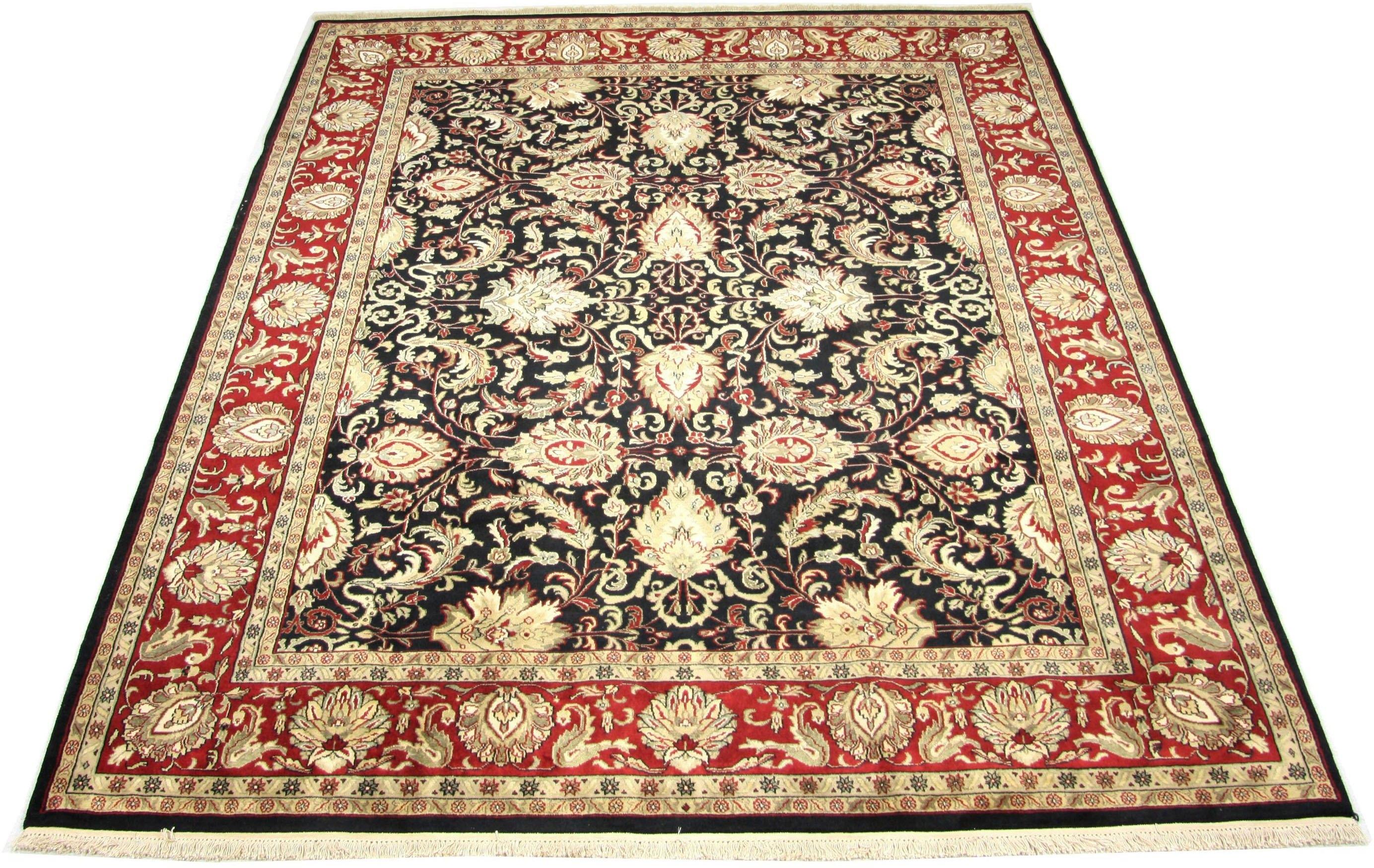 morgenland wollen kleed Täbriz Teppich handgeknüpft braun nu online bestellen