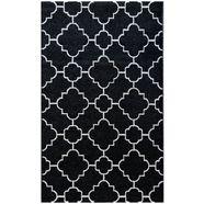 sehrazat oosters tapijt trend 7410 korte pool, woonkamer zwart