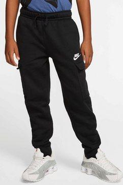 nike sportswear joggingbroek b nsw club cargo pant zwart