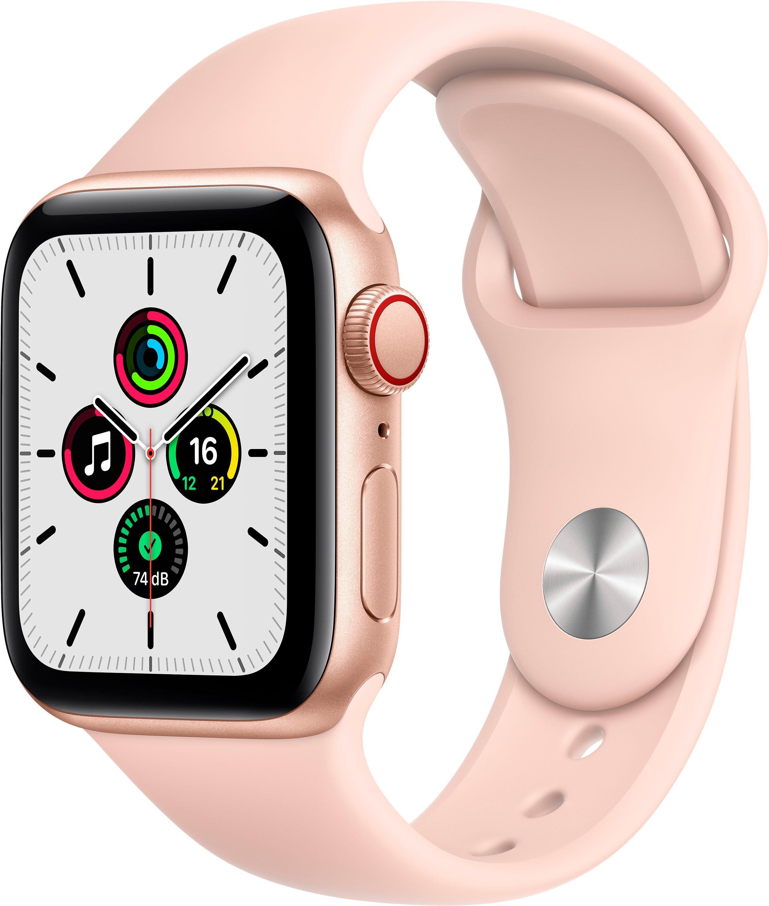 Apple watch SE gps + Cellular, aluminium kast met sportbandje 40 mm inclusief oplaadstation (magnetische oplaadkabel) goedkoop op otto.nl kopen