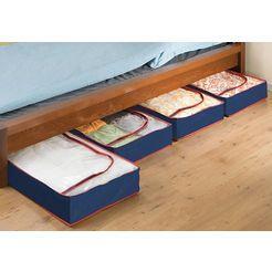 wenko onderbedbox in set van 4 blauw