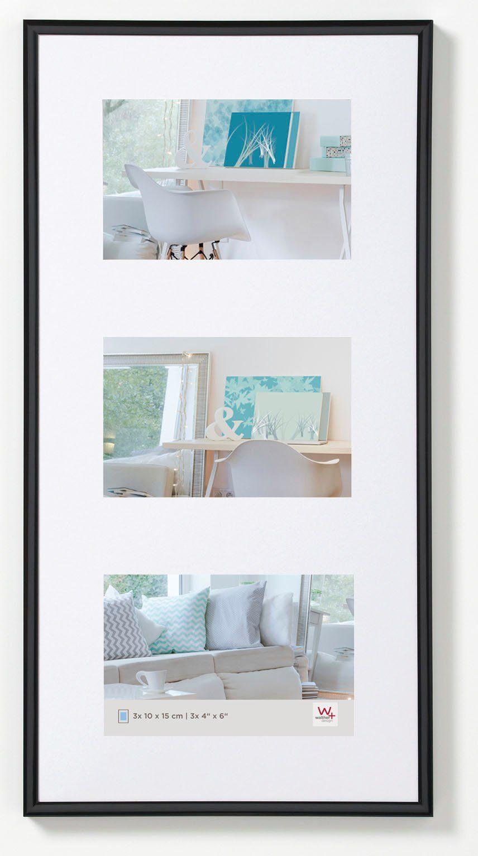 Walther Design New Lifestyle Fotolijst Fotoformaat 3x 13x18 cm Zwart online kopen