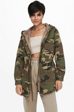 only parka onlida life utility jacket groen