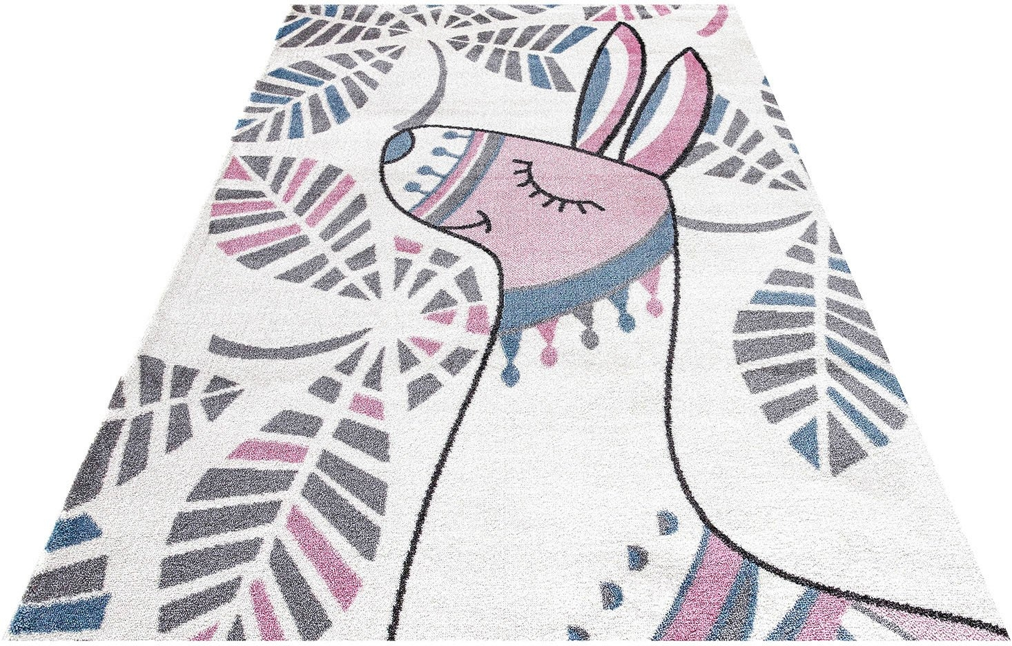 Festival vloerkleed voor de kinderkamer Candy 150 Motief lama veilig op otto.nl kopen