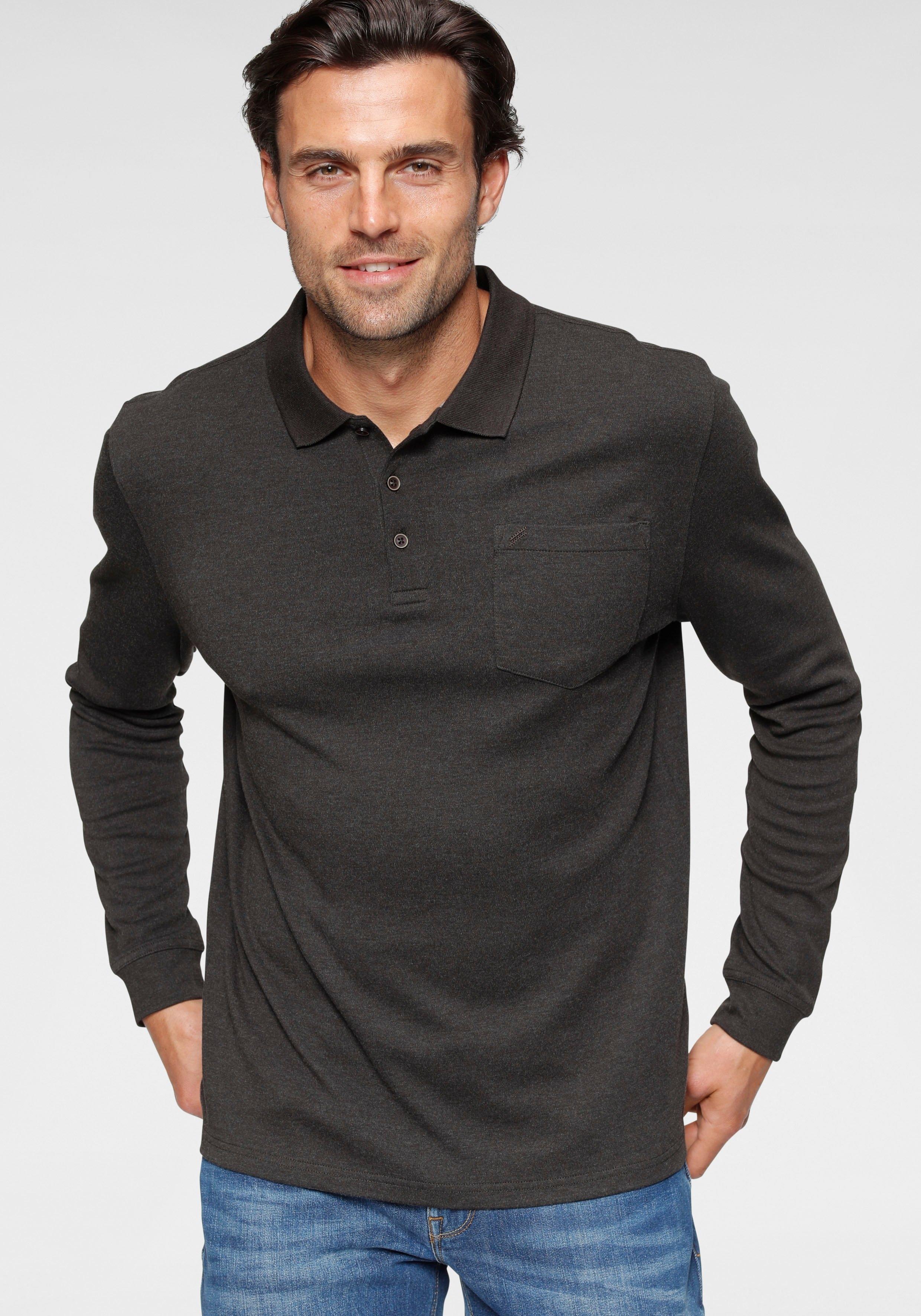 Daniel Hechter Poloshirt met lange mouwen met borstzak nu online bestellen