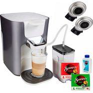senseo koffiepadautomaat hd6574-20 latte duo, inclusief gratis toebehoren ter waarde van € 14,- zilver