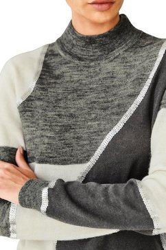 rick cardona by heine trui met staande kraag trui grijs
