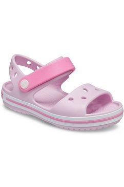 crocs sandalen crocband met praktische klittenbandsluiting roze