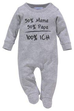 klitzeklein pyjama »aus gots bio-baumwolle« grijs