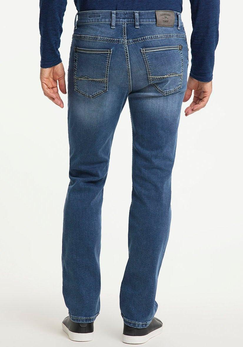 Pioneer Authentic Jeans straight jeans Rando Dikke naden bestellen: 30 dagen bedenktijd