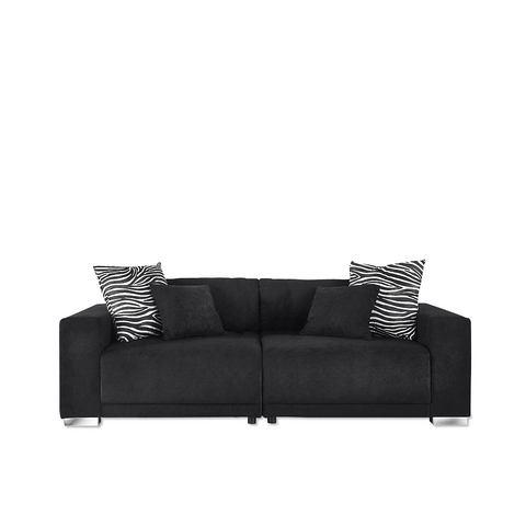 woonkamer extra groot bankstel zwart Big sofa 120