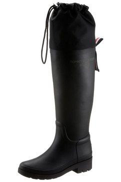 tommy hilfiger rubberlaarzen th overknee rainboot uitkomen zwart