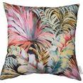 tom tailor kussenovertrek tropical diversity met een gevarieerd bloemdessin (1 stuk) multicolor