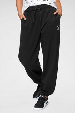 puma joggingbroek »classics relaxed jogger« zwart