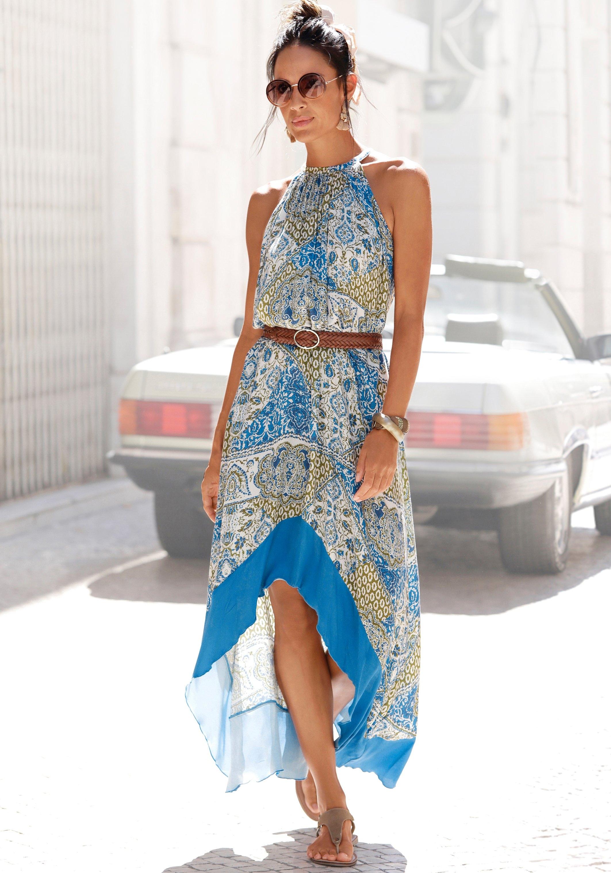 Lascana maxi-jurk in modieus model dat voor kort en achter lang is - verschillende betaalmethodes
