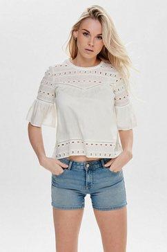 only kanten blouse »onlirina« wit
