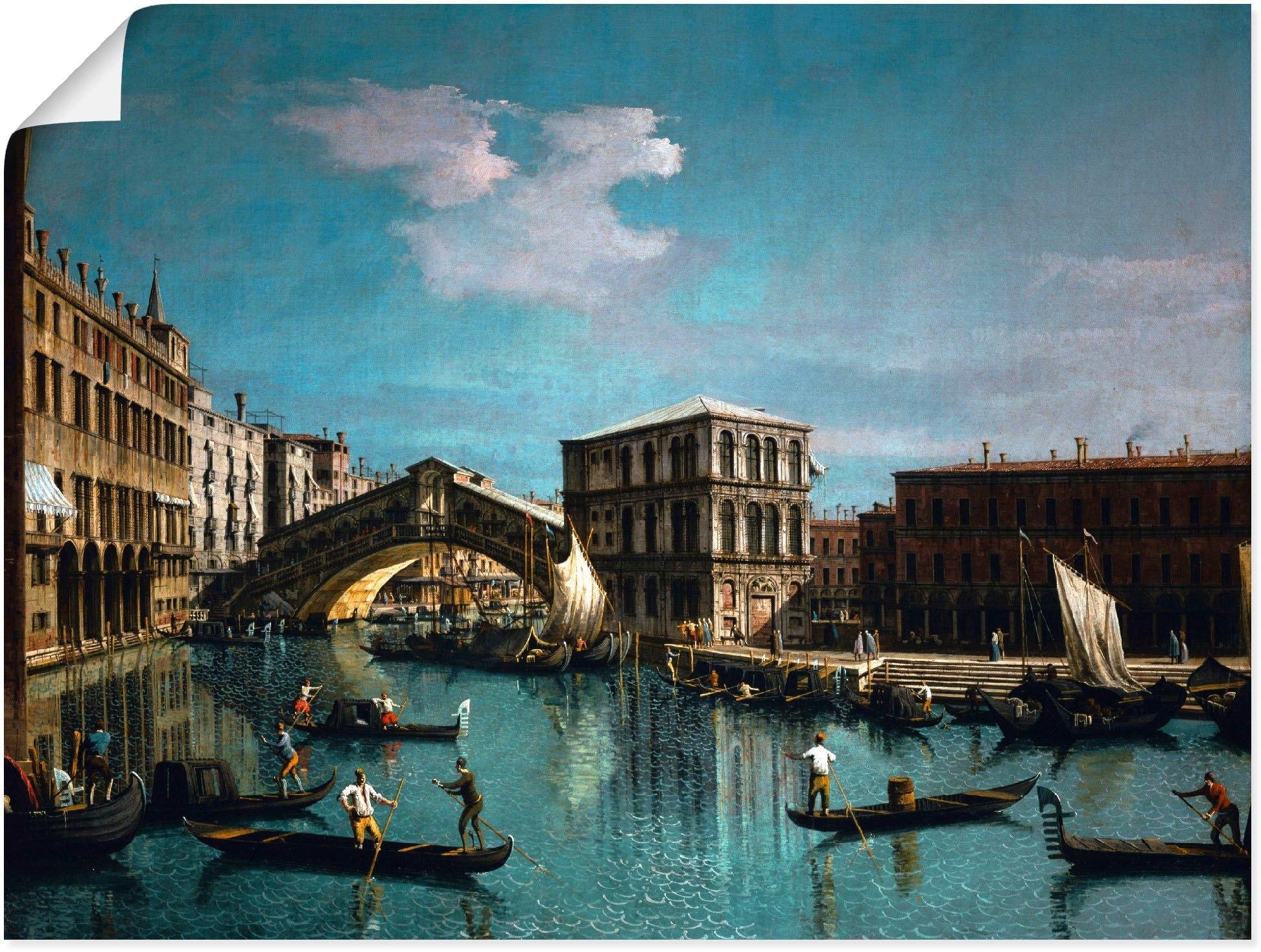 Artland artprint De Rialtobrug in Venetië in vele afmetingen & productsoorten -artprint op linnen, poster, muursticker / wandfolie ook geschikt voor de badkamer (1 stuk) goedkoop op otto.nl kopen
