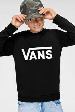 vans sweatshirt vans classic crew boys zwart