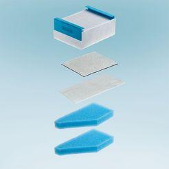 thomas filterset hepa 13 anti-pollen-filtersysteem met actieve-koolstoffilter (5-delig) wit