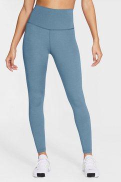 nike yogatights women's yoga 7-8 tights blauw