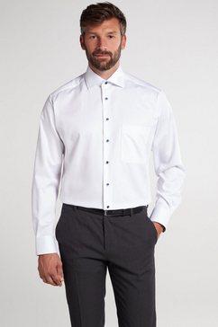 eterna overhemd met lange mouwen comfort fit lange mouwen wit