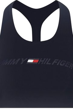 tommy sport sportbustier »light intensity graphic bra« blauw