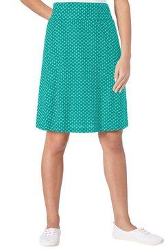 classic basics rok in soepele jerseykwaliteit groen