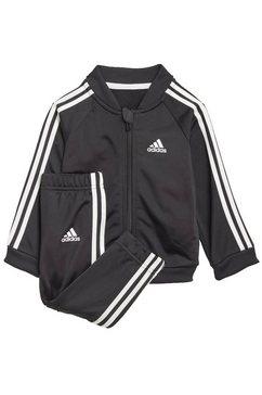 adidas performance joggingpak »3-streifen tricot trainingsanzug« zwart
