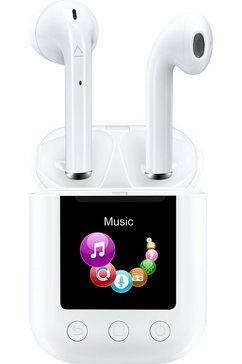 denver wireless in-ear-hoofdtelefoon twm-850 earbuds met mp3-speler wit
